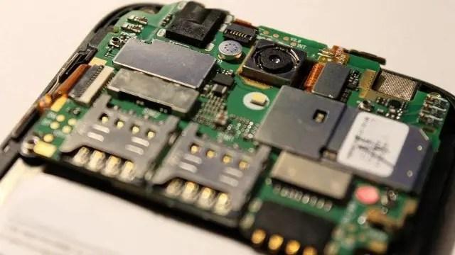 PCB of a smartphone