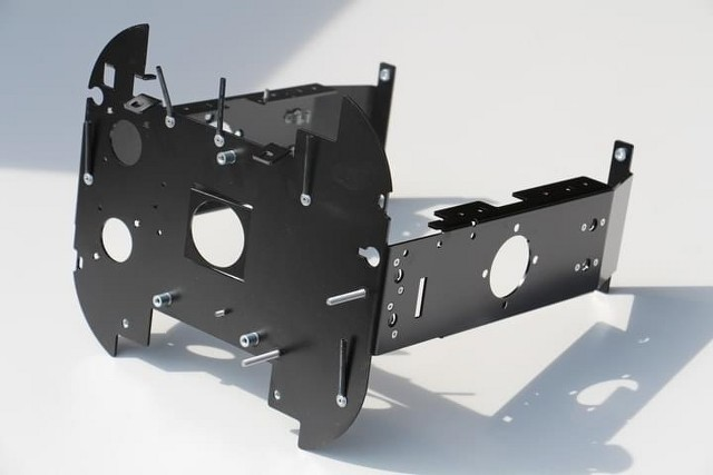A metal chassis after final assembly