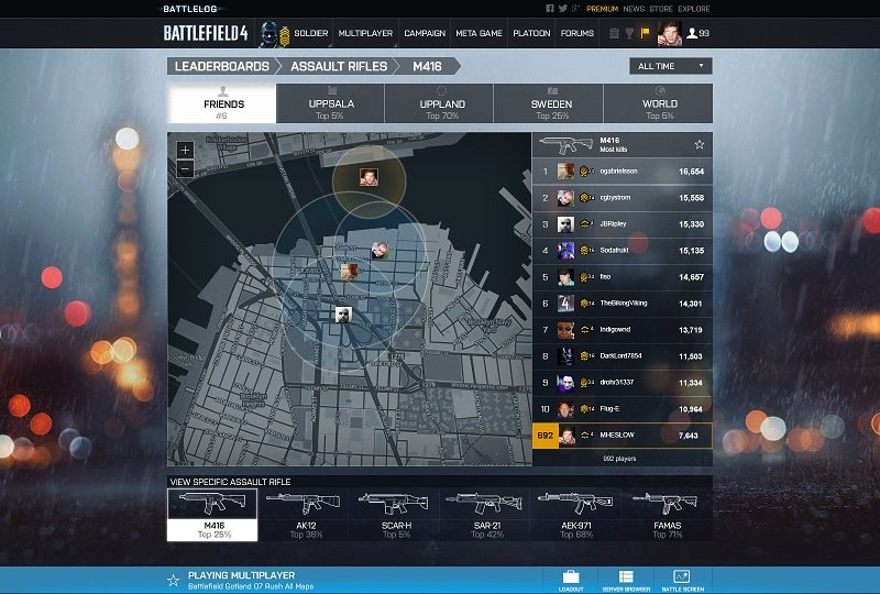 Battlelog-Specific leaderboard