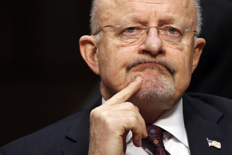 "James Clapper testifies before a Senate (Select) Intelligence hearing on ""World Wide Threats"" on Capitol Hill in Washington"