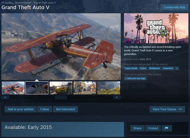 GTA V Steam dump