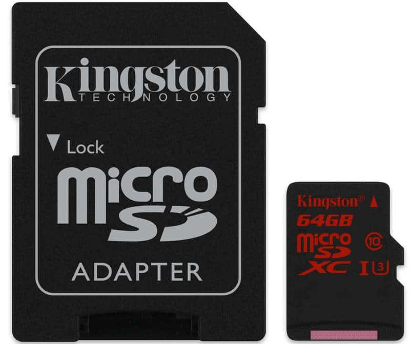 microSDXC UHS-I U3 64GB with Adapter_SDCA3_64GB