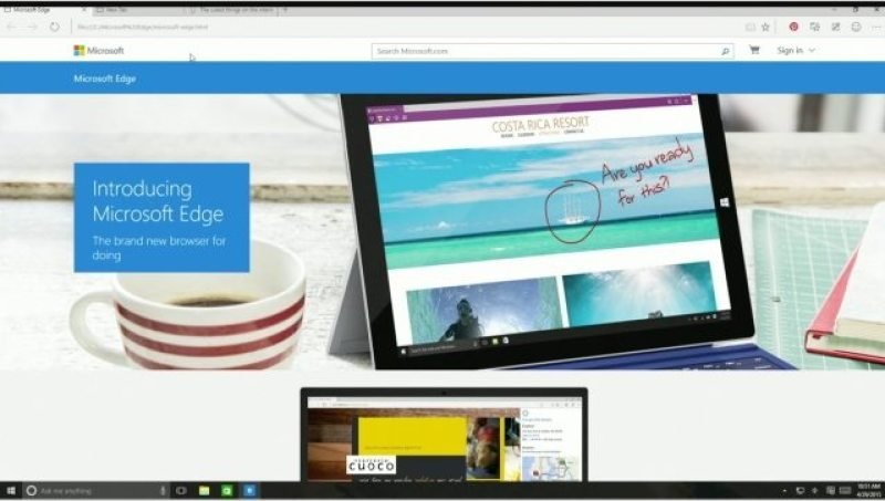 Microsoft Edge Screen Shot