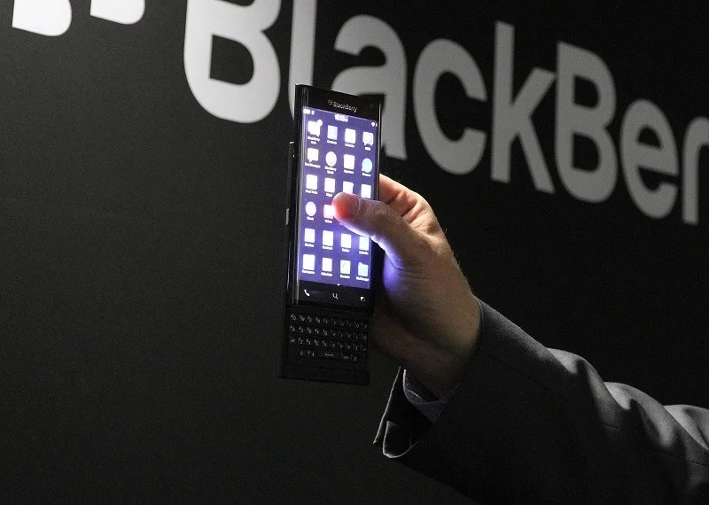 blackberry slider MWC Android