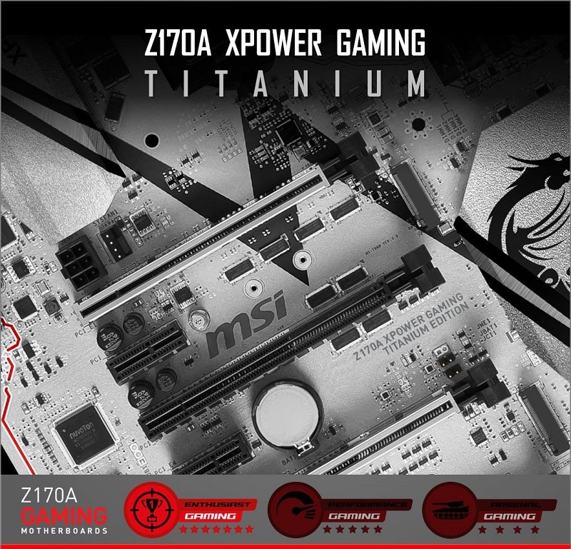 MSI Z170A XPOWER Gaming Titanium Edition Motherboard PCB