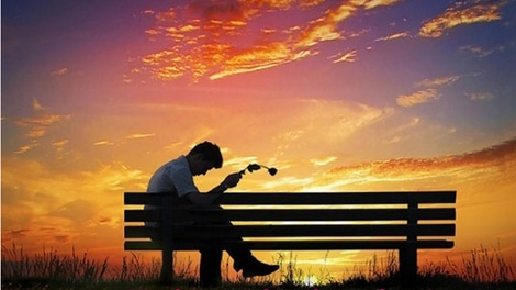 Bereaving Man Sitting on Bench Needing Counselling Services