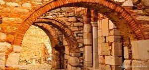Aspect of Hossios Loukas, Greece, a UNESCO World Heritage Site