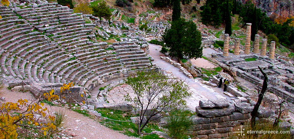 The theatre/theater at Ancient Delphi, Greece, a UNESCO World Heritage Site Eternal Greece Ltd