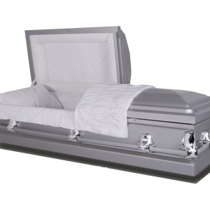Silver, Metal, 20 gage -  Eternalville Casket Store in El Paso, TX Affordable Caskets for Sale
