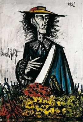 Autoportrait (II), par Bernard Buffet