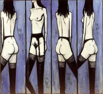 Paravent aux nus, par Bernard Buffet