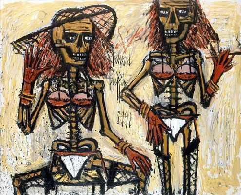 Squelettes travestis, par Bernard Buffet