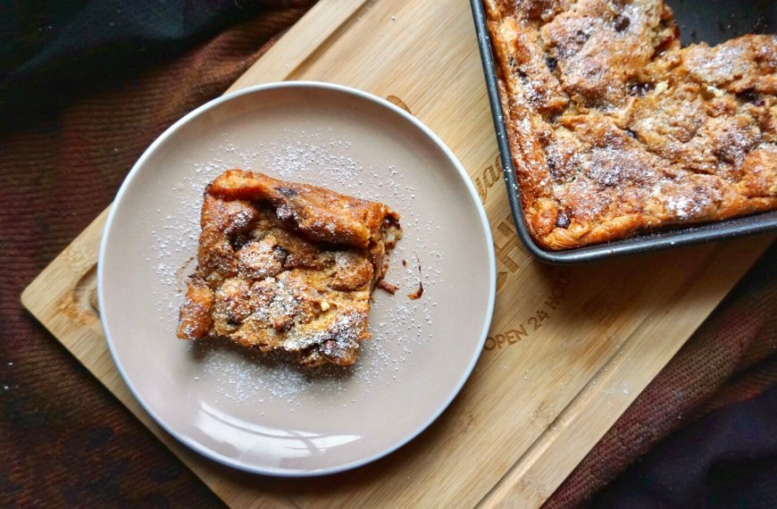 Pain Au Chocolat Bread and Butter Pudding Recipe
