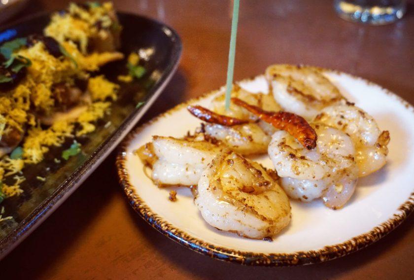 Tangra Chilli Garlic Prawns at Darjeeling Express