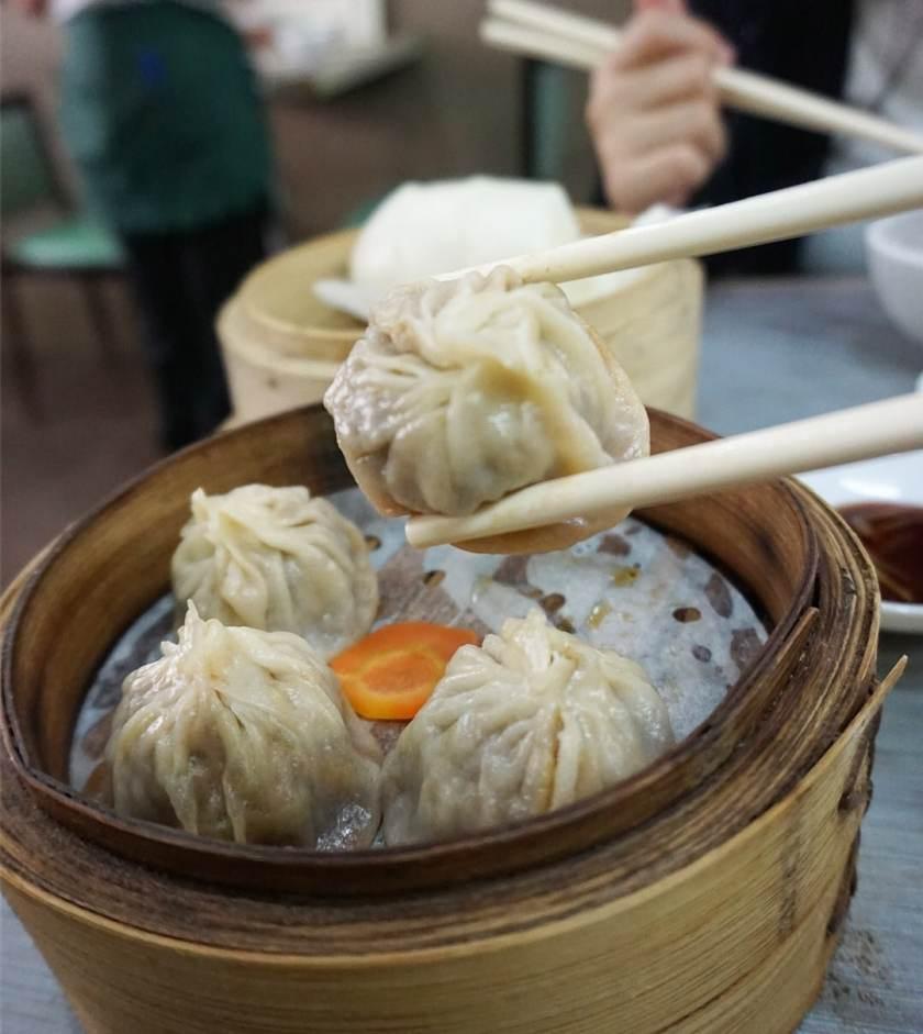 Image of a basket of Xiao Long Bao (soup dumplings) at Islam Food