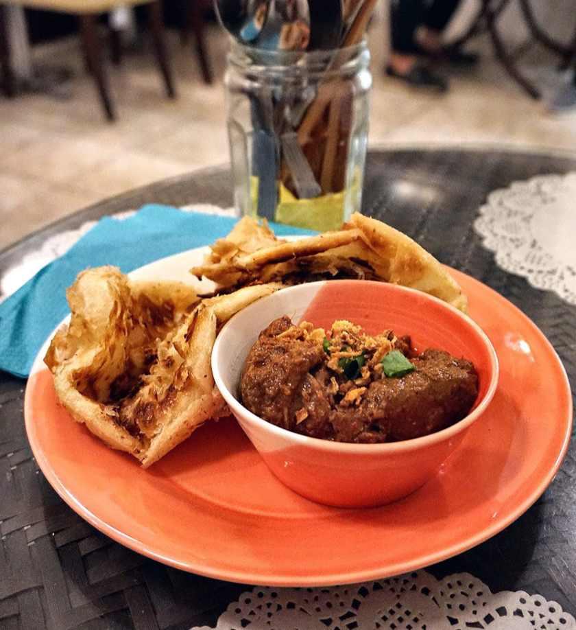 Beef Rendang Roti Canai at Normah's
