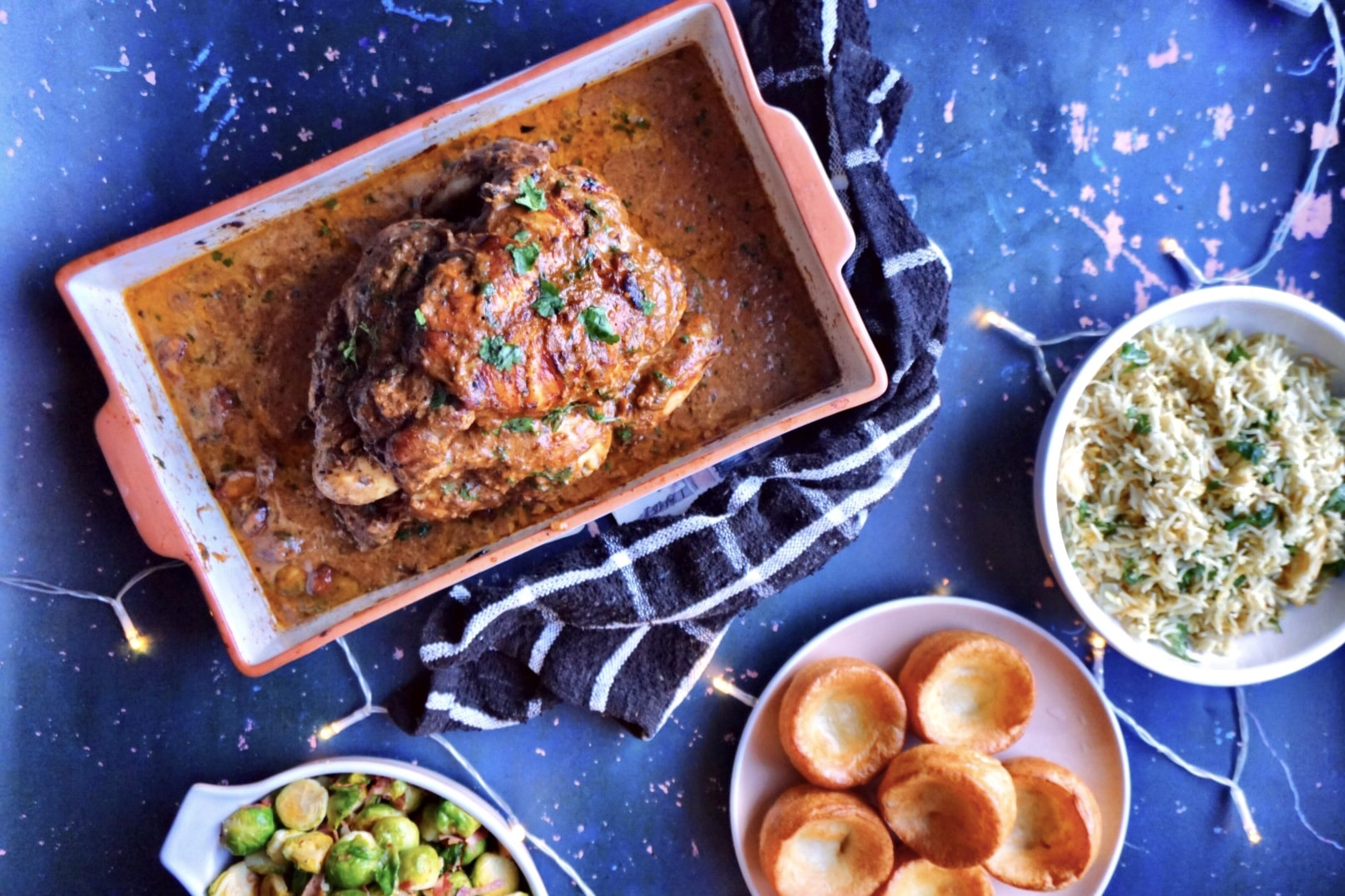 Indian-Style Stuffed Roast Chicken Recipe