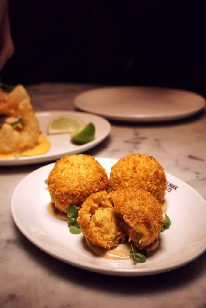 Image of a plate of Lobster Croquettes at Zelman Meats Soho