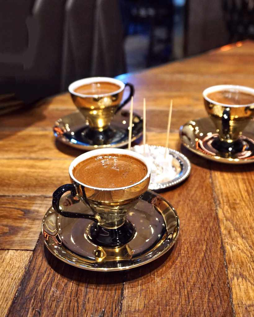 Image of a cup of Turkish coffee at The Mantl