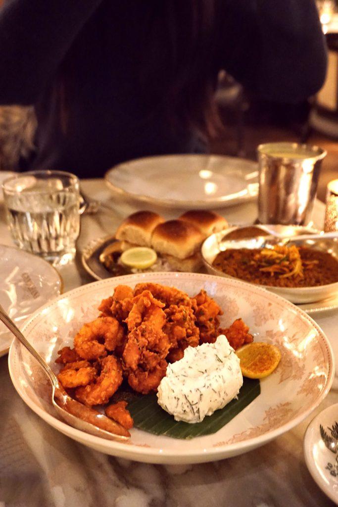 Amritsari Shrimp at Gymkhana