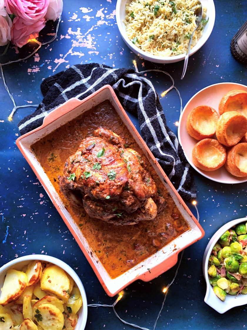 Image of a Murgh Musallam Stuffed Roast Chicken