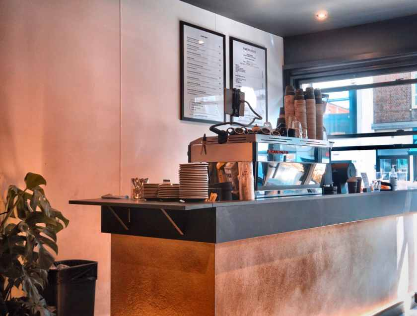 Image of a coffee bar at Over Under Ladbroke Grove