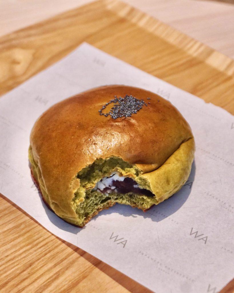 Image of a Matcha Bun at WA Cafe Covent Garden