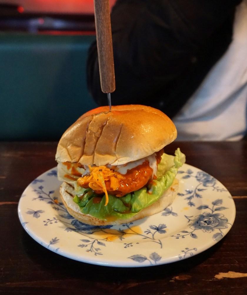 Buffalo Chicken Burger at Absurd Bird