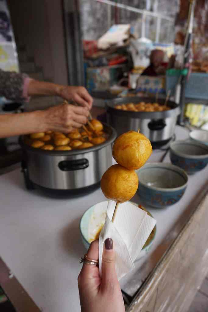 Curry Fish Balls Skewers in Hong Kong