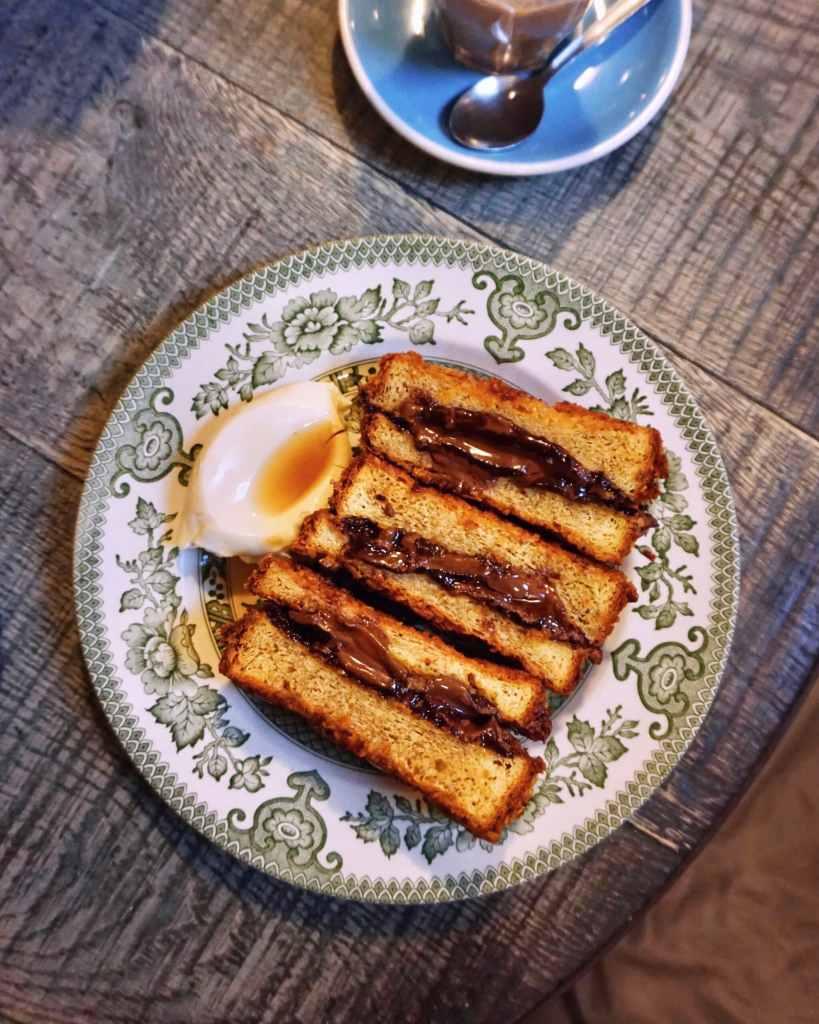 Nutella French Toast at Eggbreak Nottinghill, London