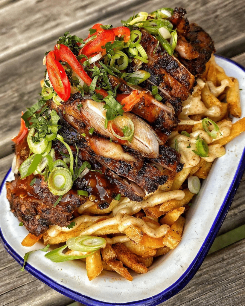 Jerk Chicken & Chips by White Men Can't Jerk