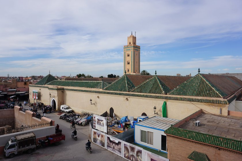 Rooftop view of the Ben Youssef Madrasa in Marrakech
