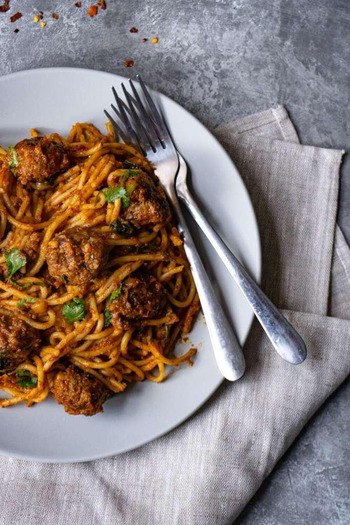 Spicy Meatballs Spaghetti