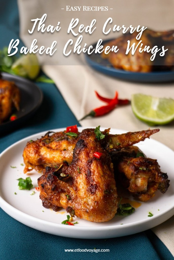 Thai Red Curry Baked Chicken Wings Recipe