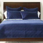 Gresham Navy Velvet Coverlet And Shams Quilts Comforters Ethan Allen