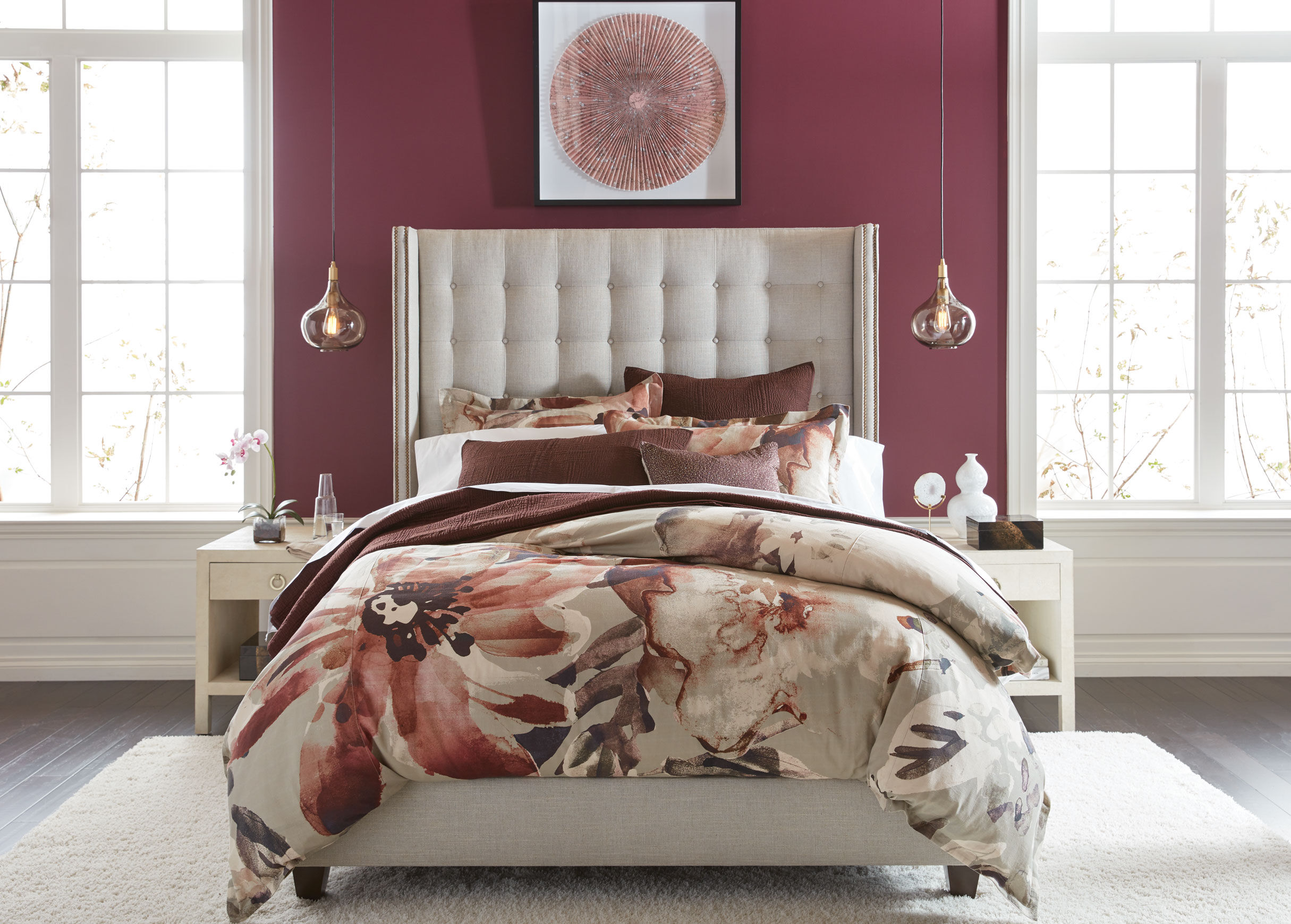 Colton Platform Bed With Tall Headboard Beds Ethan Allen