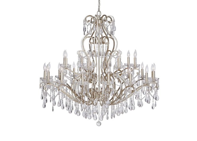 Images Whitney Champagne Grand Chandelier Large Gray