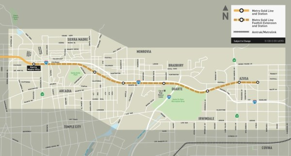 Los-Angeles-Metro-Gold-Line-Foothill-Extension-Map