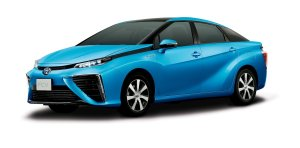 Toyota Mirai fuel cell vehicle.