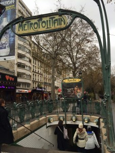 Typical Metro entrance, this one by the Moulin Rouge.
