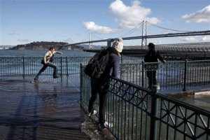 King tide at the San Francisco Embarcadero