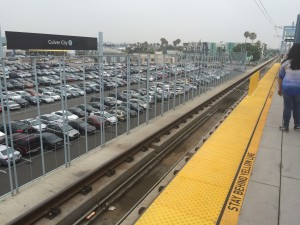 Abundant free parking at the Culver City station.