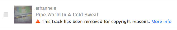 SoundCloud copyright notice