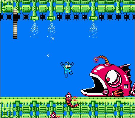 Mega Man 2 giant fish