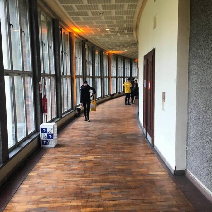 Funkhaus round hallway