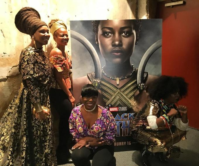 Black Panther audience members at BAM