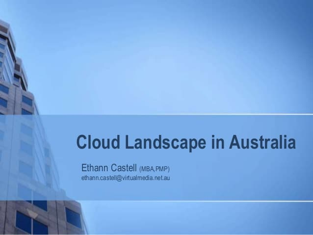 The cloud landscape in Australia