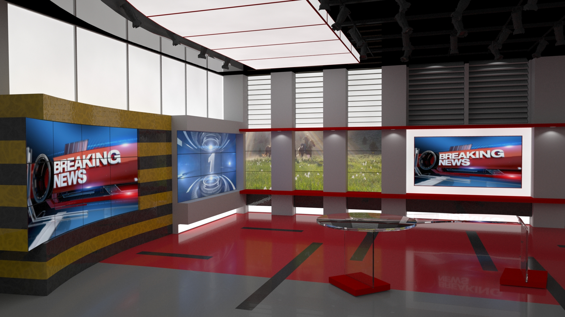 Broadcast News Room Studio Ethereal 3D Online Store