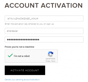Kraken- Account activation