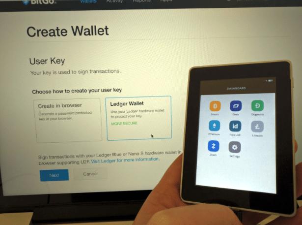 Einfaches Setup des Ledger Blue Wallet